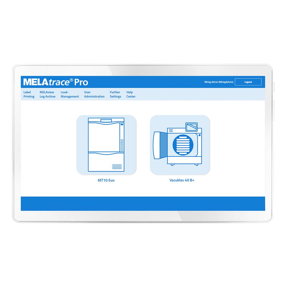 Vue de face de documentation de logiciel MELAtrace