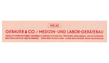 MELAG advertising from 1952