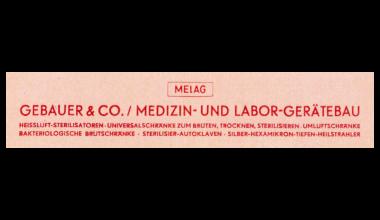 Warenzeichen MELAG im Jahr 1952