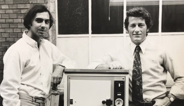 Dr. Steffen Gebauer und Christian Thiede im Jahr 1971