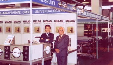 Gebauer Senior and Junior at MELAG booth