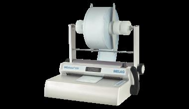 Schrägansicht Siegelgerät MELAseal 200 mit Folien-Rollenhalter