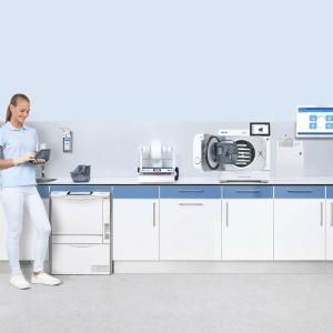 MELAG Systemlösung der Instrumenten-Aufbereitung mit Careclave, Carebox und Coolingbox