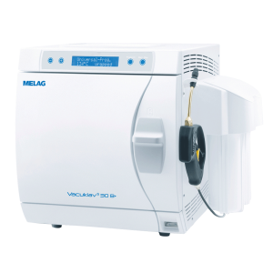 Diagonal view Pro-Class Vacuklav 30 B+ autoclave with water treatment