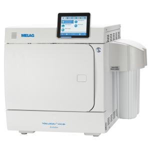 Premium-Class autoclave with MELAdem water treatment unit