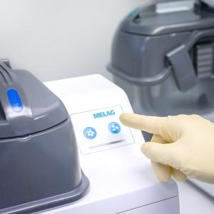 Auswahl zwischen zwei Programmen für den Abkühlungsprozess der Instrumente