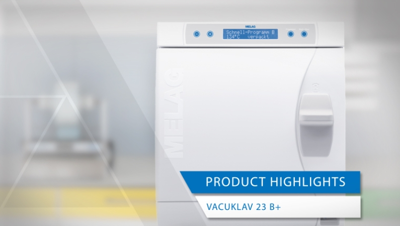product highlights Vacuklav 23 B+ steam sterilizer ENT