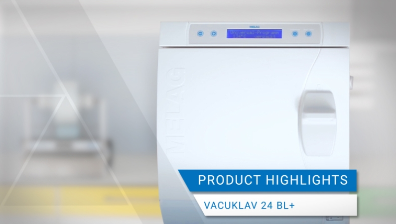 Video view product highlights Vacuklav 24 BL+