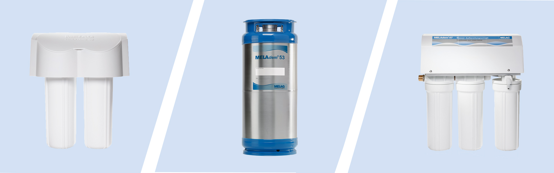 The water treatment unit series MELAdem for instrument decontamination